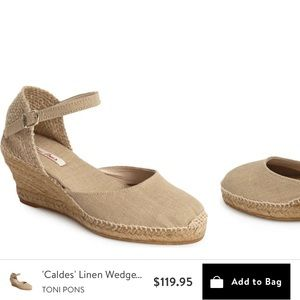 NEW Toni Pons espadrilles in tan linen & leather